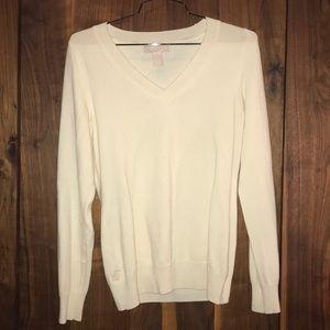 Extra fine merino wool V neck sweater